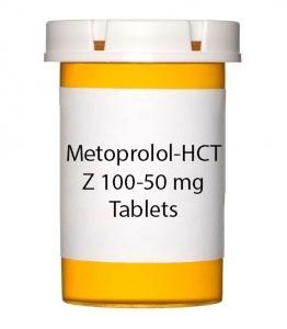 Metoprolol-HCTZ 100-50 mg Tablets (Generic Lopressor HCT)