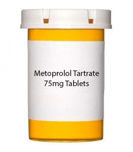 Metoprolol Tartrate 75mg Tablets