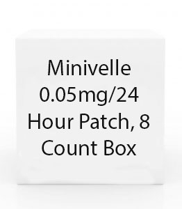 Minivelle 0.05mg/24 Hour Patch, 8 Count Box