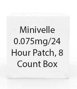 Minivelle 0.075mg/24 Hour Patch, 8 Count Box
