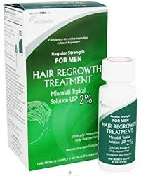 Actavis Men's Regular Strength Hair Regrowth Treatment Minoxidil 2%-  2x-2 fl oz Bottles (two month supply)
