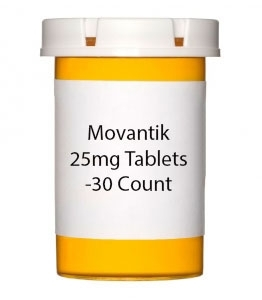 Movantik 25mg Tablets -30 Count Bottle