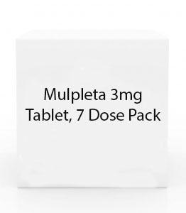 Mulpleta 3mg Tablet, 7 Dose Pack