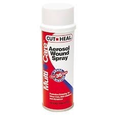 Cut-Heal Aerosol Wound Spray- 4oz
