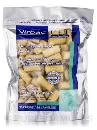 C.E.T. Oral Hygiene Chews for Cats, Fish Flavor- 96ct