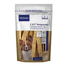 C.E.T. Enzymatic Oral Hygiene Chews for Dogs, Petite- 30ct