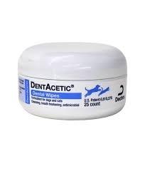 DentAcetic Dental Wipes, Cinnamon-Clove Flavor- 25 Count