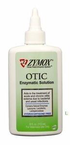 Zymox Otic Enzymatic Solution without Hydrocortisone- 8oz