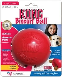 Kong Biscuit Ball, Red, Large- 1ct