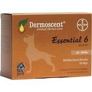 Dermoscent Essential 6 Spot-On Skin Care for Dogs 45 to 90 Pounds- 4 x 2.4ml