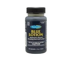 Blue Lotion Antiseptic Wound Dressing and Gall Lotion- 4oz