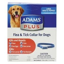 Adams Plus Flea and Tick Collar for Dogs