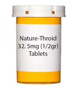 Nature-Throid 32. 5mg (1/2gr) Tablets