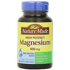 Nature Made Magnesium 400 mg Dietary Supplement Liquid Softgels - 60ct