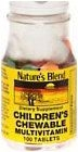 Natures Blend Childrens Chewable Multivitamin Tablets - 100