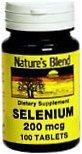 Natures Blend Selenium 200 mcg Tablets 100ct