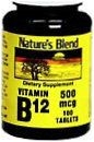Natures Blend Vitamin B12 500 mcg Tablets 100ct