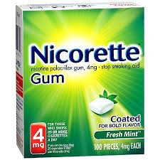 Nicorette Nicotine Gum 4mg White Ice Mint - 20ct