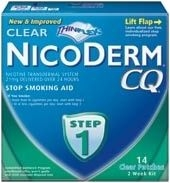 Nicoderm CQ Step 1 Clear Patch 21mg 14/Box