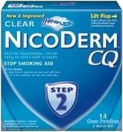 Nicoderm CQ Step 2 Clear Patch 14mg 14/Box