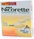 Nicorette 2mg Coated Tablets Fruit Chill Flavor - 100ct Box