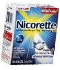 Nicorette 2mg Coated Tablets White Ice Mint Flavor - 100ct Box