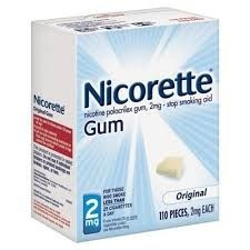 Nicorette Gum 2mg Original - 110ct Box
