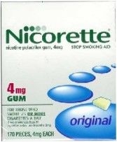 Nicorette Gum 4mg Original Flavor Regular - 170ct Box