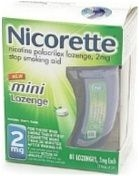 Nicorette Polacrilex 2mg Mini Lozenge Mint 81ct