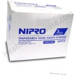 "Nipro Syringe 23 Gauge, 3cc, 1"" Needle - 100 Count"