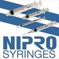 """Nipro Syringe, 20 Gauge, 3cc, 1"""" Needle - 100 Count"""