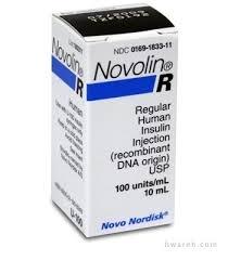 Novolin R Insulin 100UN/ml - 10ml vial