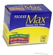 Nova Max Diabetic Test Strips - 50 Strips