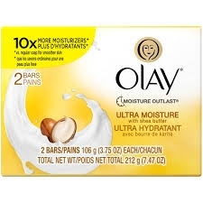 Olay Ultra Moisture Moisturizing Bars 2-Pack White  7.5 oz