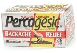 Percogesic Backache Relief Maximum Strength Coated Caplet 48ct