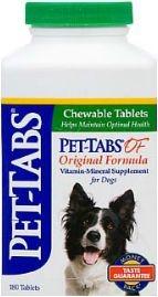 Pet-Tabs OF Original Formula Chewable Tablet-180 Count Bottle