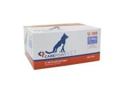 Carepoint Veterinary U-100 Insulin Syringe 29 Gauge, 3/10cc, 1/2""