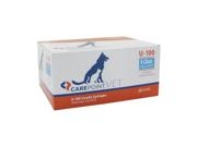 Carepoint Veterinary U-100 Insulin Syringe 31 Gauge, 1/2cc, 5/16""