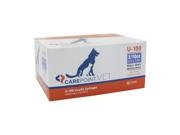 "Carepoint Veterinary U-100 Insulin Syringe 31 Gauge, 3/10cc, 5/16"" with Half Unit Markings 100ct"
