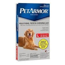 PetArmor Flea & Tick Protection for Dogs 45-88lbs, 3ct