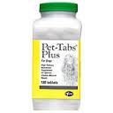 Pet-Tabs Plus Chewable Tablet - 180 count bottle (Zoetis)