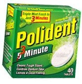 Polident Denture Cleanser Tablet 40ct***otc Discontinued  2/25/14