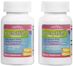 21st Century Prenatal Multivitamin + DHA Dietary Supplement - 60 Tablets + 60 Softgels