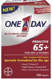 One A Day Proactive 65+ Tablets- 150ct