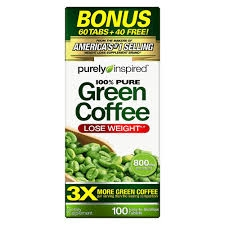 Purely Inspired 100% Pure Green Coffee Caplets 800mg - 100ct