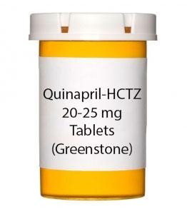 Quinapril-HCTZ 20-25 mg Tablets (Greenstone)