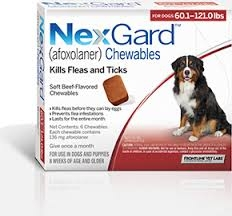 NexGard For Dogs (60.1-121lbs) (Red)- 3 Dose Pack