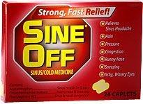 Sine Off Sinus/Cold Medicine Caplets - 24 Count Box