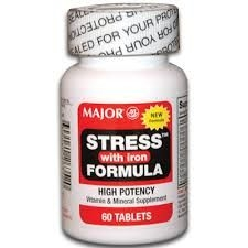 Stress Formula with Iron Vitamin Supplement - 60 Tablets