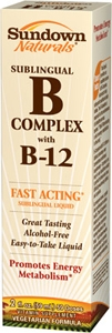 Sundown Vitamin Sublingual B Complex with B-12 - 2oz
